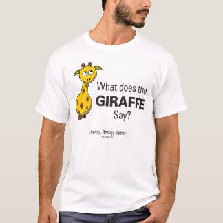 Giraffet förråder manar grundläggande T-tröja Tshirts