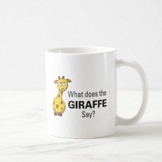 Giraffet förråder muggen kaffemugg