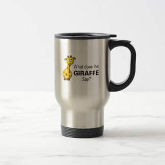 Giraffet förråder travel mug resemugg