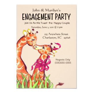 Giraffförlovningsfestinbjudningar 12,7 X 17,8 Cm Inbjudningskort