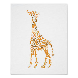 Giraffkanfas Posters