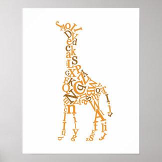 Giraffkanfas Poster