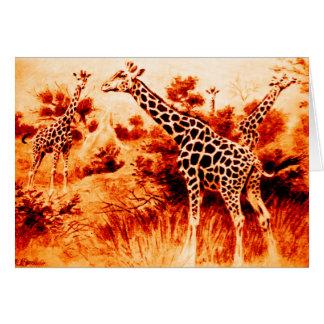 Giraffkort Hälsningskort