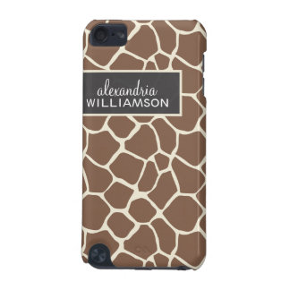 Giraffmönsteripod touch case (choklad) iPod touch 5G fodral