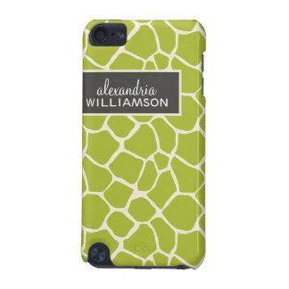 Giraffmönsteripod touch case (limefruktgrönt) iPod touch 5G fodral