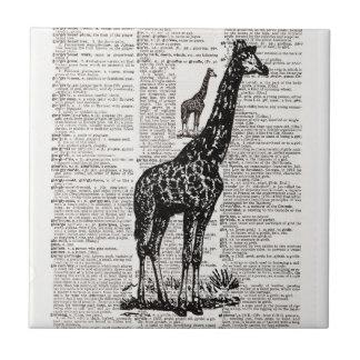 Giraffordbokkonst Kakelplatta