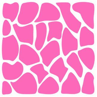 Girafftryckmönster i ljus Pink Photo Cutout