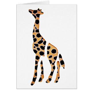 Giraffvilden mosar upp hälsningskort
