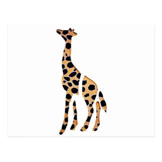 Giraffvilden mosar upp vykort