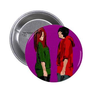 Girl & boy pin standard knapp rund 5.7 cm