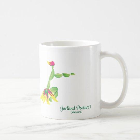 Girlanden poserar (vitmuggen) kaffemugg