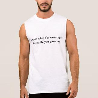 Gissning vad ha på sig för I-förmiddag? Sleeveless T-shirts