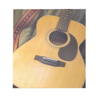 gitarr anteckningsblock