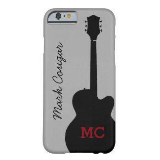gitarr för sten för anpassningsbarnamn- och barely there iPhone 6 fodral