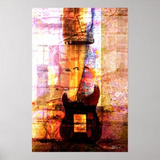 Gitarr i mittet poster