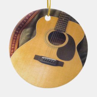 gitarr julgransprydnad keramik