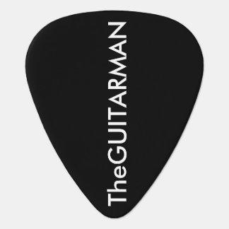 -gitarr-man svart plektrum