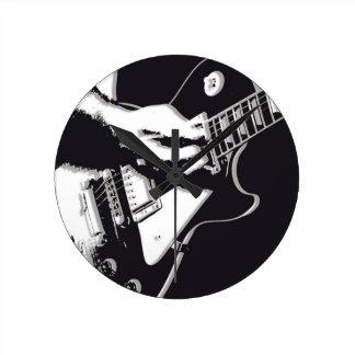 Gitarr Medium Rund Klocka
