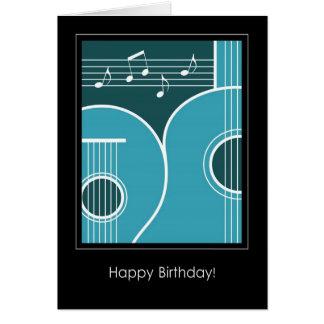 Gitarr och musik noter för födelsedagkort grafisk hälsningskort