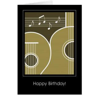 Gitarr och musik noter för födelsedagkort grafisk kort