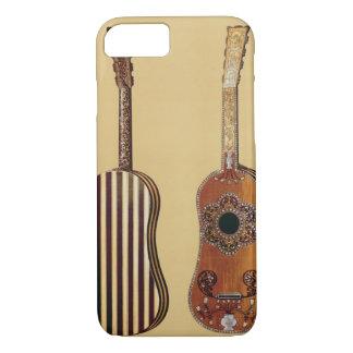 Gitarr som läggas in med pärlemor, från 'musikal