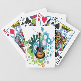 Gitarr som leker kort spel kort