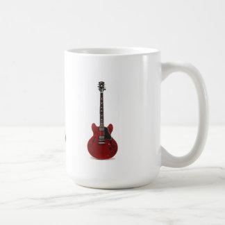 gitarr vit mugg