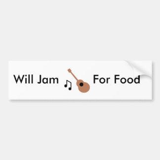 Gitarren ska sylt, för mat bildekal