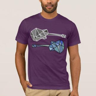 gitarrer av geometriskt formar (trianglar) tshirts