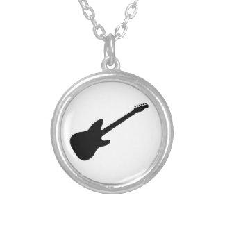 Gitarrhalsband Silverpläterat Halsband