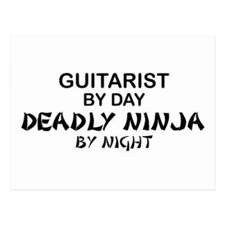 Gitarrist dödliga Ninja vid natt Vykort