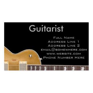 Gitarrist Set Av Standard Visitkort