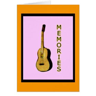 GitarrjGibney de MUSEUMZazzle MINNENA Hälsningskort