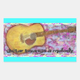 gitarrknäpp en akustisk melodi rektangulärt klistermärke