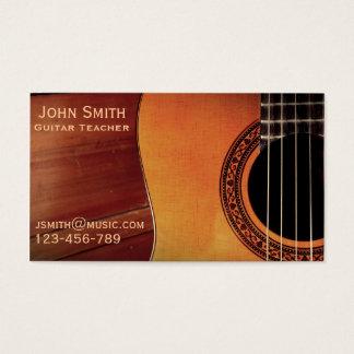 Gitarrläraremusik handleder frilans visitkort