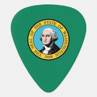 Gitarrplocka med flagga av staten Washington Plektrum