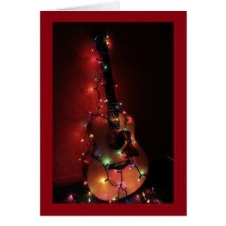 Gitarrspelare julkort hälsningskort