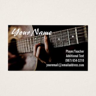 Gitarrspelare - lärare - låtskrivare - musikband visitkort
