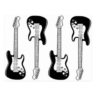 Gitarrvykort Vykort
