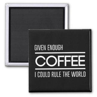 Givet nog kaffe kunde jag härska världen