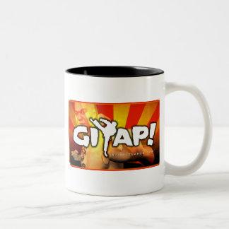Giyap! Ledar- kung fu Två-Tonad Mugg