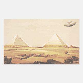 Giza Spaceship Rektangulärt Klistermärke