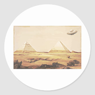 Giza Spaceship Runt Klistermärke