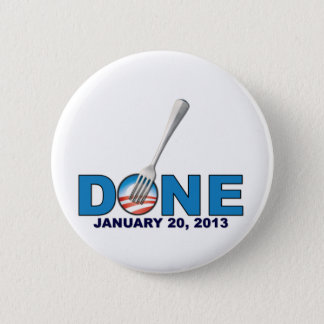 Gjorda - Januari 20, 2013 - Anti Obama Standard Knapp Rund 5.7 Cm