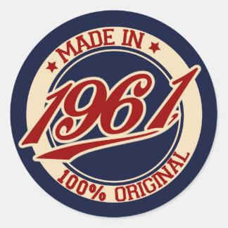 Gjort i 1961 runt klistermärke