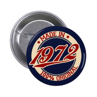 Gjort i 1972 standard knapp rund 5.7 cm