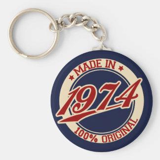 Gjort i 1974 rund nyckelring