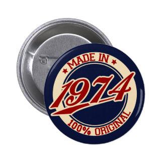 Gjort i 1974 standard knapp rund 5.7 cm