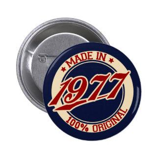 Gjort i 1977 standard knapp rund 5.7 cm