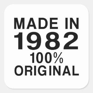 Gjort i 1982 fyrkantigt klistermärke